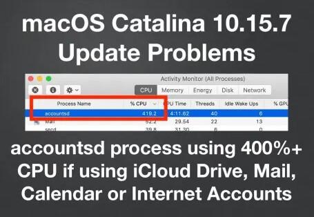 400% CPU if using iCloud